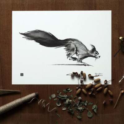 Teemu Järvi juliste Squirrel 30 x 40 cm