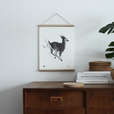 Teemu Järvi juliste White-tailed deer 30 x 40 cm
