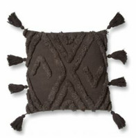 Brown fringed cushion cover 50 x 50 cm