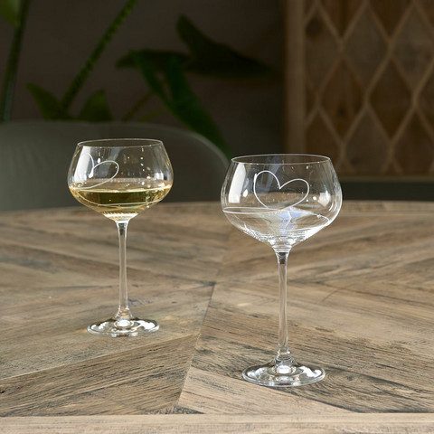 With Love White Wine Glass
