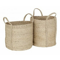 Dixie jute basket natural grey with handles