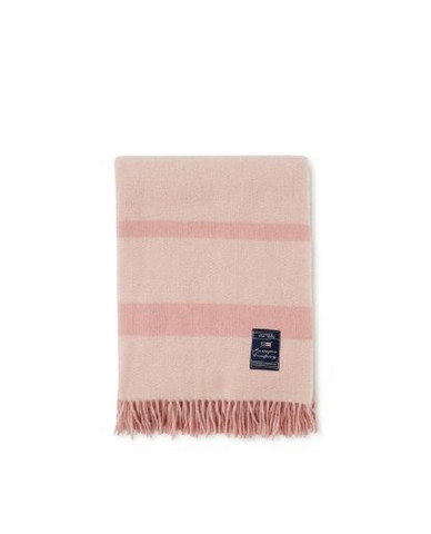 Herringbone Recycled Wool Throw pink 130 x 170 cm