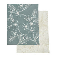 Les Fleurs Tea Towel 2 pieces
