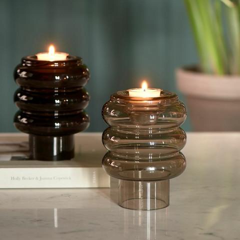 Multiple Candle Holder Vase black