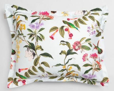 Garden pillowcase light blue
