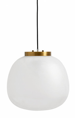 FROST pendant lamp, L white/golden top