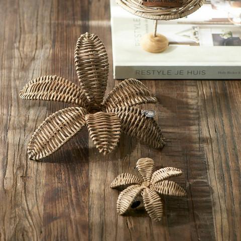 Rustic Rattan Decoration Flower M