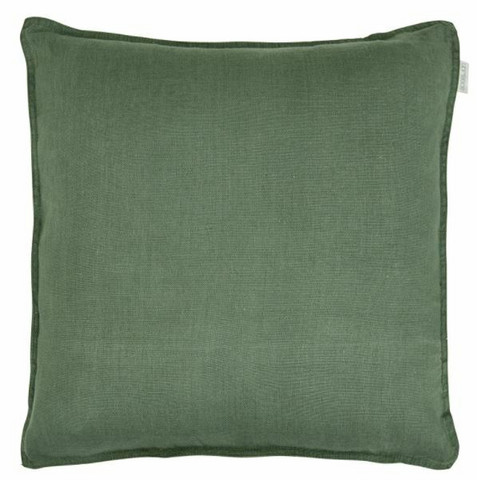 Sabina linen cushion cover green 45 x 45 cm