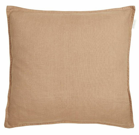 Sabina linen cushion cover brown 45 x 45 cm