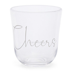 Cheers To Summer Water Glass