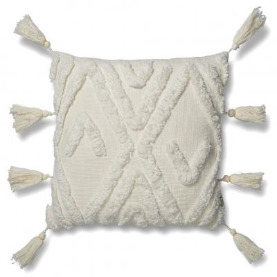 Fringed cushion cover 50 x 50 cm