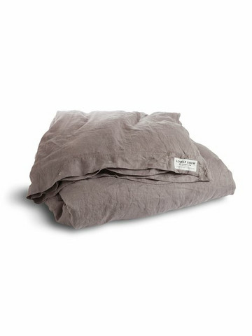 Lovely Linen Misty queen size duvet cover 240x220 cm grey