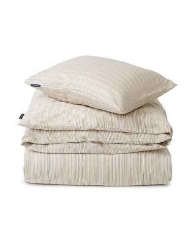 Beige Striped Organic Cotton S beige/white  150x210/50x60 cm