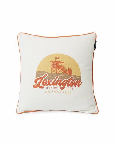 Surf Beach Logo Cotton Canvas Pillow cover 50 x 50 cm