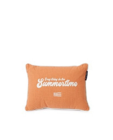 Summertime Small Cotton Canvas Pillow 30 x 40 cm