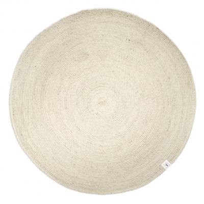 Merino villamatto pyöreä 160 cm luonnonvalkoinen