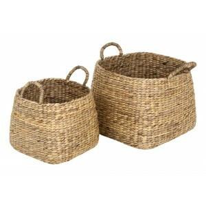 Water hyacinth basket Ebba L 41x41xh42 cm