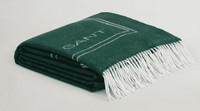Gant Logo Throw tartan green  130 x 180 cm