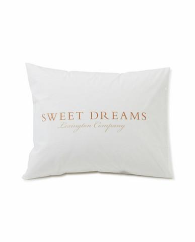 Printed Organic Cotton Poplin pillowcase 50x60 White