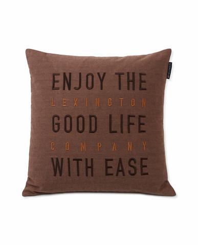 Good Life Herringbone Cotton Flannel Pillow cover 50x50 Beige