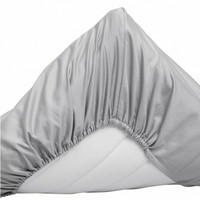 Sateen Double fitted bed sheet 180x200 Moon grey