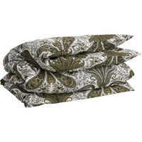 Key West Paisley pussilakana 150x210 Olive branch green