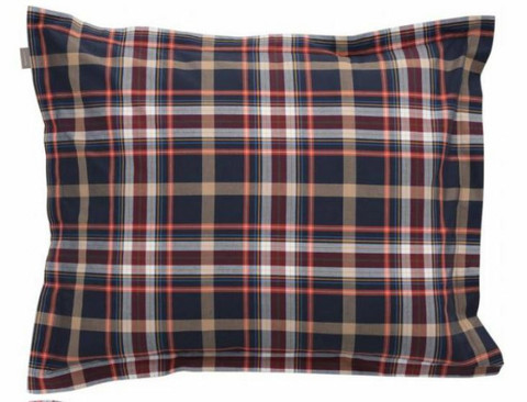 Oxford check pillowcase marine