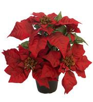 Poinsettia red 35 cm