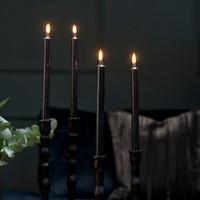 Dinner Candles ECO black 4pcs