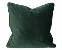 Elise samettityyny 45x45 Tumma vihreä