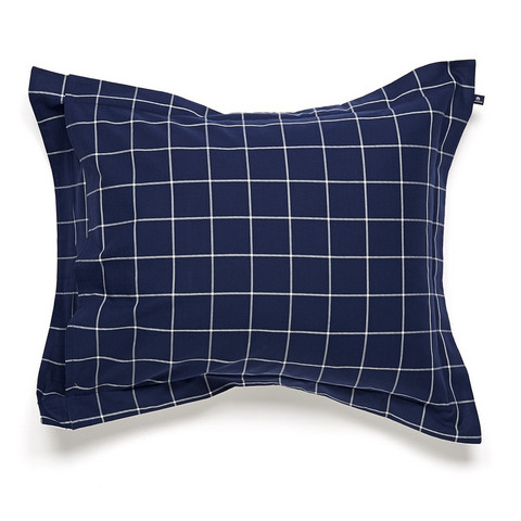 City Windowpanel dark blue pillowcase