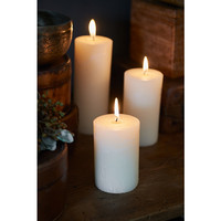 Rustic Basic Ivory Candle 7x10