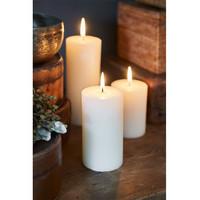 Rustic Basic Ivory Candle 7x13