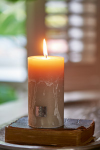 Rustic Desert sand Candle 7x13