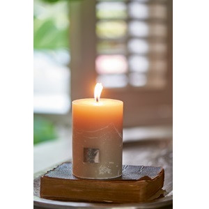 Rustic Desert sand Candle 7x10