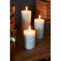 Rustic Olive green Candle 7x10