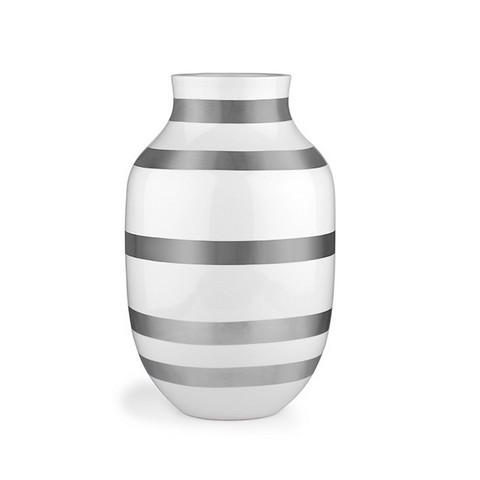 Omaggion Vase L Silver