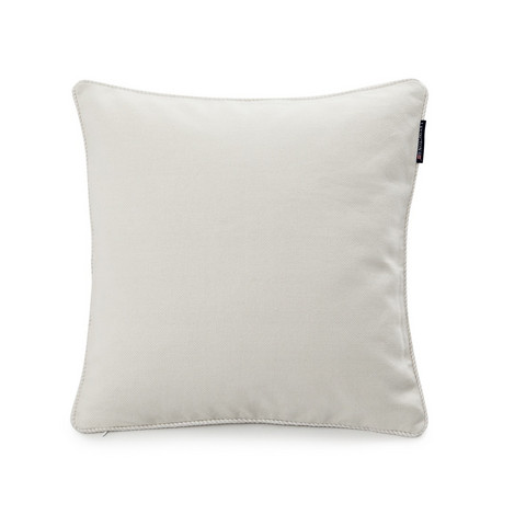 Solid Sham with rope piping 50x50 White