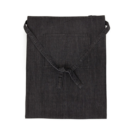 Denim apron low Black