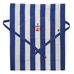 Lexington Striped Apron low Blue