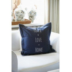 House + Love Pillow cover Navy 50x50
