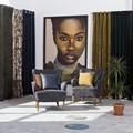Elise Velvet curtain set Brown 135x280
