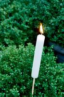 Garden Torch white S