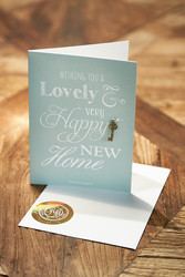 Postcard New Home +envelope