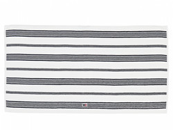 Striped Velour Towel White/Dress blue