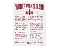 Printed Kitchen Towel White-red 50x70