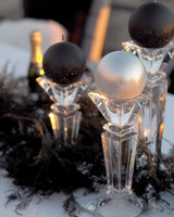 Velvet Ball Candle 10cm Black glitter