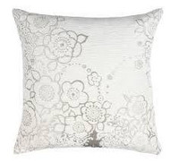Blackbird Cushion White 45x45