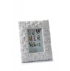 Tropical Island Photo Frame white