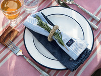 Striped Napkin Pink